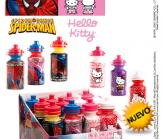 Imagen 1 Botella Hello Kitty + Spiderman con caramelos